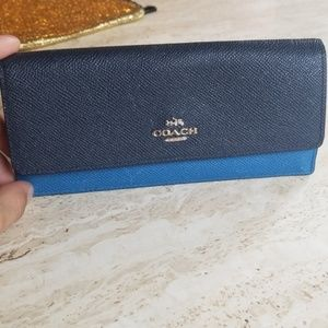 Coach two tone wallet